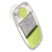 Solar Window Thermometer LCD Digital Solar Powered Suction Cup Thermometer F&C Indoor Home Car Window