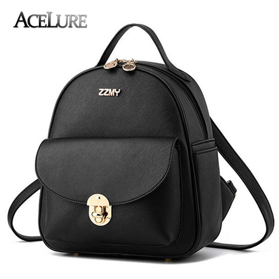 2017 Women pu Leather Backpacks causal Fashion Backpack Women Schoolbag for Teenager Girls female Travel Backpack Satchel Bag<br><br>Aliexpress