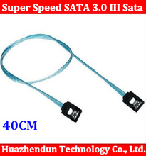 1PCS Super Speed SATA 3.0 III Sata 3 SATA3 6GB/s Hard Disk Drive Cable Blue Durable 50cm cable SATA Cable(China)