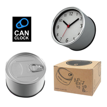 Factory Price Simple Wall Reloj Bracket  Fridge Clocks Kitchen  Magnet Watches Aluminum Can Clocks,Tin Clocks Gift