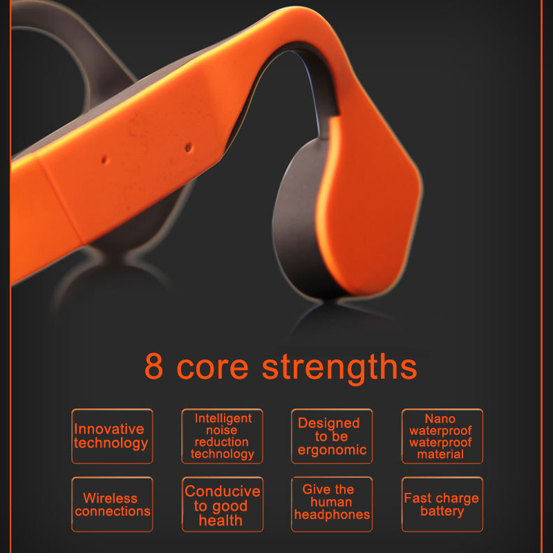 New Styl Bone Conduction Bluetooth Earphone Waterproof Wireless Neck-Strap NFC Sport Stereo Headphones Headset With Mic
