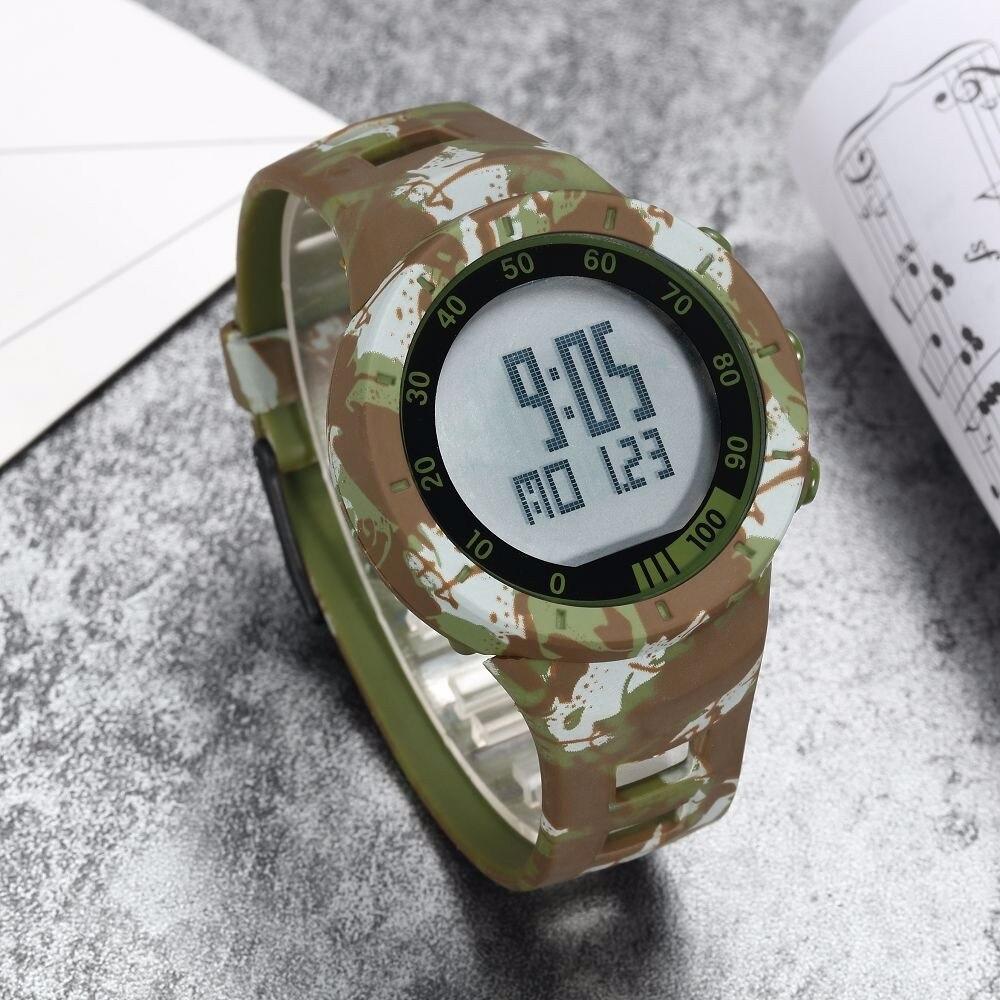 Digital LED Watch Army Green Men Sports Wristwatches Rubber Strap Waterproof Fashion Alarm Watch Clocks Stopwatches Reloj Hombre 13