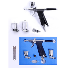 Dual Action Airbrush Kit 0.3mm  Air Gun for akvagrim Car Paint Body Tattoo Aerograph Air Brush Makeup Hobby Acrylic Paints