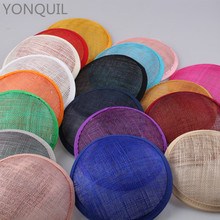 2017 Multiple Color 13CM ROUND SINAMAY Fascinator Base for Headpiece New DIY Women Party Fascinator Hat  12pcs/Lot WHolesale