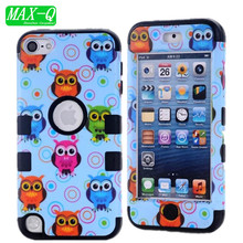 For iPod Touch 5 5G 5th Generation Gen Case 3 in 1 Back Cover Hybrid Defender Case Shockproof Durable Hard Cover Skin