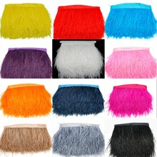 1M small package high quality real ostrich feather trims for skirt/dress/costume ribbon feather trimming wholesale