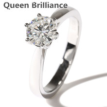 Simple fashion carat 3mm Width 1 Carat white gold diamond gem stone moissanite ring Solid 14K 585 White Gold For Women jewelry