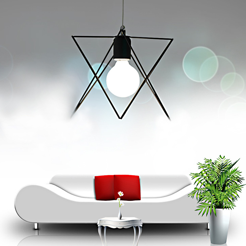 American vintage lamp simple Coffee Lamps bar Lighting creative Loft Iron pendant lights black metal pendant lamp E27 led luster<br><br>Aliexpress