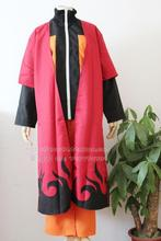 Cosplay Costume Naruto Uzumaki Sage Red Cloak Dust coat cloak set