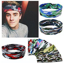 Fashion Women Men Sport Sweat Sweatband Unisex Headband Yoga Gym Stretchy Head Band Hairband 2017 NEW(China)