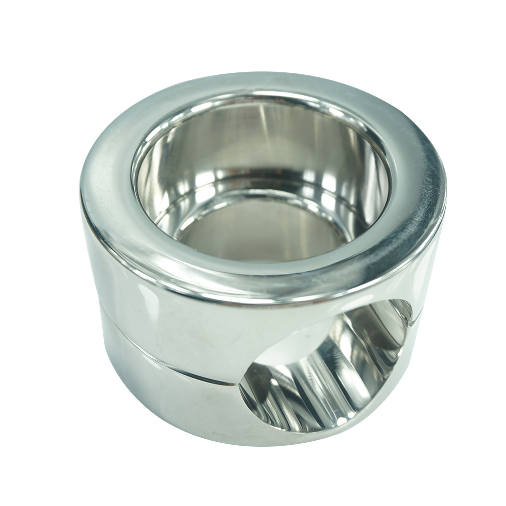 Height 45mm heavy stainless steel Ball Scrotum Stretcher penis cock ring metal Locking pendant erection CBT Chrome male sex toy<br>
