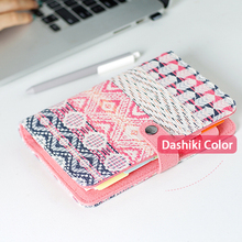 2018 New Vintage Old Retro Dashiki National Style Fabric Cover Office Ring Binder Weekly Planner Organizer Dairy Notebook A5 A6