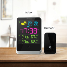 Desktop  Temperature and RH  Monitor  Meter Thermometer  Built-in wifi  Indoor and Outdoor trends forecast weather conditions