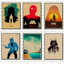 Vintage Star Wars poster retro art classic house decorated Star Wars kraft posters wall stickers /5009