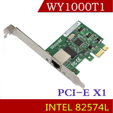 Winyao WY1000T1 Gigabit PCI-E X1 Desktop Ethernet Adapter Network Card NIC Intel 82574L Chipset jumbo frames TSO VLAN PXE WOL(China)