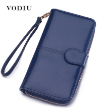Wallet Women Purse Female Long Card Holder Coins Leather Wallet Phone Wallet Passport Clutch Bag Money Pocket Brand Logo Design(China)