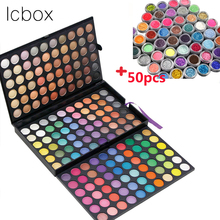 LCBOX Brand 180 Colors Eyeshadow Palette Makeup Glitter Eye Palette Profissional Matte Colour Pigment with 50 Eye Shadow Powder