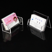 Acrylic Office Equipment Supply Desk Business Card Holder Stand Display