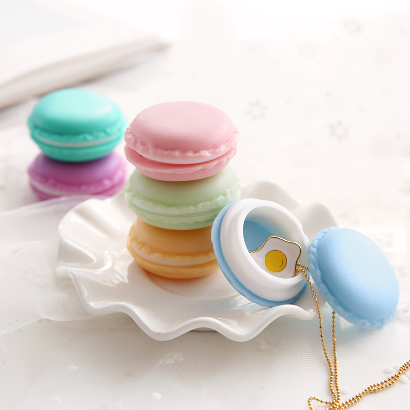 6 pcs/Lot Mini clips dispenser Macaron storage box Candy organizer for eraser zakka Gift Stationery Office school supplies 5028