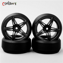 4pcs 1:10  RC Drift Tires&Wheels hub Rim for HSP HPI  On-Road Racing Car 12FM+PP0367
