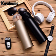 Kieabamo Free shipping  3 Colors Thermos Coffee Cup Bottle Stainless Steel Thermocup Vacuum Thermal Mug 480ml