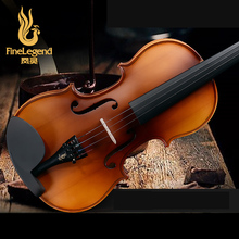 Free Shipping FineLegend 4/4 Full Size Handmade Professional Violin Solid Spruce Maple with Bow, Case, Rosin LCV1111-2