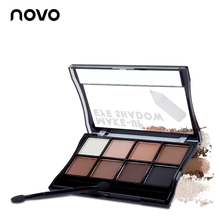 NOVO 8 Colors Matte Nude Mineral Eyeshadow Pallate Shining Naked Eye Shadow Primer Pallate Beauty Makeup Cosmetics With Brush(China)
