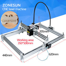 New 2500mW Large Area Mini Laser Engraver Engraving Machine Laser Cutting Printer Marking Machine Working Size 350*500mm(China)