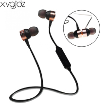 xvgjdz Magnet Bluetooth 4.0 Earphone Stereo Bass Earphones With Microphone Wireless Sports Headset for iPhone Xiaomi PC MP3