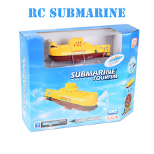 Create Toys 3311 Mini RC Submarine 3CH Remote Control Toy With USB Cable Blue Yellow Christmas Children Kids Gift RTR(China)