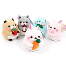 Super Kawaii Amuse Groundhog marmot Plush Toy Doll Cute bobac Stuffed Animals Dolls Pendant Keychain Baby Kids Toy Girls Gifts(China)
