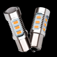 2PCS Super Bright 1156PY 7507 PY21W BAU15S 15 led 5630 smd Car Rear Direction Indicator auto Front Turn Signals Light amber 12V
