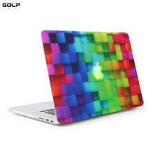 "Cover Case For Macbook 13 Pro Retina Cube Pattern Rubberized Hard PC Sleeve Case For Apple Macbook 13"" Pro Retina Laptop Cover(China)"