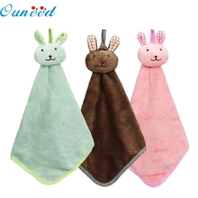 Mosunx Busines Kitchen Cartoon Animal Hanging Cloth Soft Plush Dishcloths Hand Towel