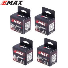 4x EMax 9g High Sensitive Mini Sub Micro Servo ES08A 8g ES08 3D RC airplane Helicopter ES08MD ES08MA MG90S +Free shipping(China)