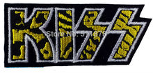 "3.14"" KISS Music Band EMBROIDERED IRON On Patch T shirt Transfer APPLIQUE Heavy Metal Rock Punk Badge(China)"