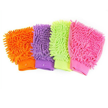 8x15cm Single-sided Chenille Mitt Gloves Car Wash Soft Thick Microfibre Cloth Mitt Cleaning Products Glass Window(China)