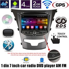 android 6.0 car DVD radio stereo player 2 din 7 inch GPS video player for ssangyong actyon 2014 korando 4G LTE wifi AM FM