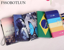 """FSSOBOTLUN,For Uhans i8 Pro 5.65"""" case Fashion Painting Patterns PU Leather Stand Phone Flip Cover 2 Card Slots"""