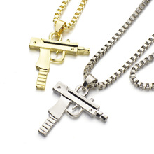 Buy Dormon Fashion Hip Hop Pistol Gun Pendant Necklace Link Chain Punk Cool Pendants Men Women Gift Necklaces X618 for $1.41 in AliExpress store