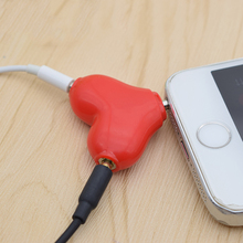 FFFAS Cute 1 Male 2 Female Earphone 3.5mm Aux Audio Cable Headphone Heart Music Share Splitter Apple IPhone MP3 Speaker