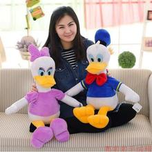 1Pcs 70cm Free Shipping Stuffed Dolls Donald Duck Daisy Duck Kids toy baby Gift Plush Toys High Quality(China)