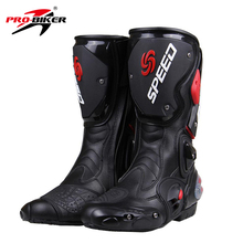 PRO-BIKER SPEED BIKERS Motorcycle Boots top quality Motocross Off-Road Motorbike Shoes Black/White/Red Big Size 40-45 B1001(China)
