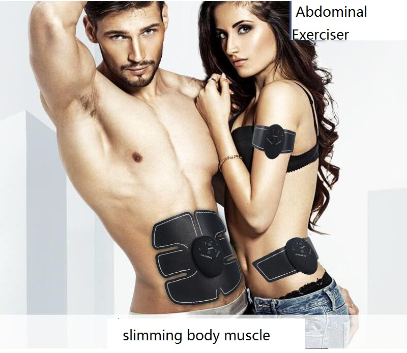 slimming electric abdominal muscle trainer ems body massage training sports exercise loss weight fitness tracker (2)