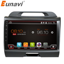 Eunavi 2 din Android 6.0 car radio for KIA sportage 2011 2012 2013 2014 2015 car pc head unit with gps navigation stereo wifi(China)