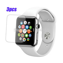 PET 3pcs/Lot Front Transparent LCD Screen Guard Protectors for Apple Watch / iWatch (42mm) Film Quality