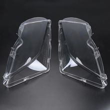 1 Pair For BMW Transparent Lampshade lamp shade front Shade LENSES of headlight For BMW E46 2001-2005 4DR 3-Series/Touring/Wagon(China)
