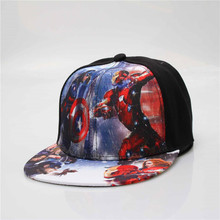 Kids Baseball Cap Fashion Iron Man Captain Superman Batman Spider-Man One Piece Snapback Caps Children Boys Hip Hop Hat