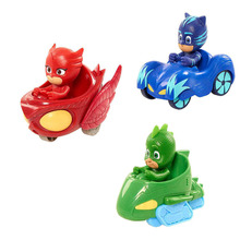 9cm Pj Masks gekko Anime figurinhas PVC Pjmasks Pajamas Masked Hero Action Figure Toys for Boys Birthday Party gift(China)