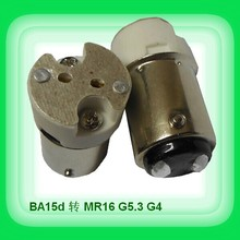 50pcs B15 B15D BA15D 1157 lamp socket holder convert to MR16 G4 G5.3 base lamp holder converter adapter
